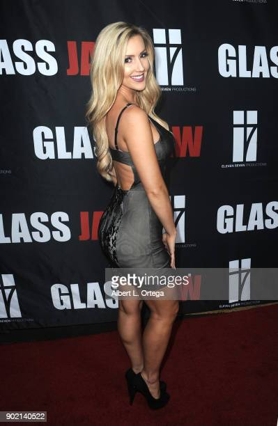 Amanda Paris arrives for the premiere of Glass Jaw held at Universal Studios Hollywood on November 9 2017 in Universal City California