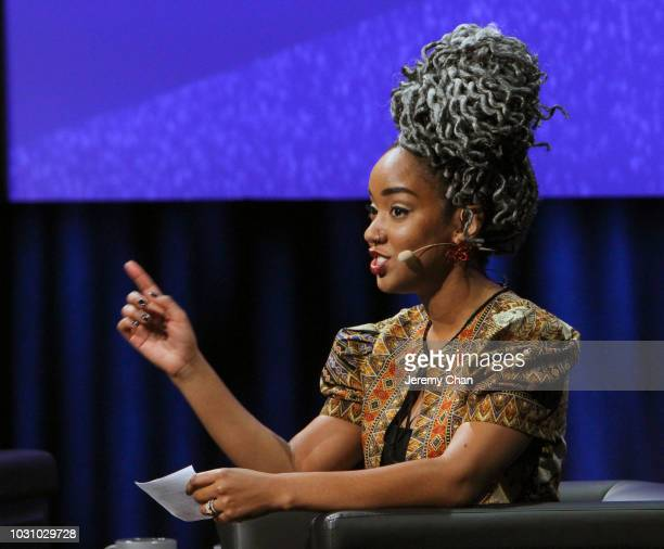 Amanda Parris attends 'In Conversation WithMahershala Ali' during 2018 Toronto International Film Festival at Glenn Gould Studio at CBC on September...