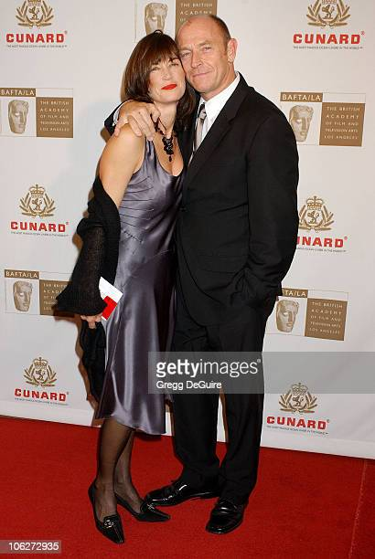 Amanda Pays and Corbin Bernsen during 2005 BAFTA/LA Cunard Britannia Awards Arrivals at Beverly Hilton Hotel in Beverly Hills California United States