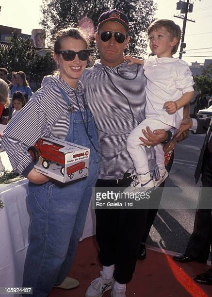 Amanda Pays Corbin Bernsen and Oliver Bernsen during Toys For Tots Benefit November 13 1991 at Los Angeles Children's Museum in Los Angeles...