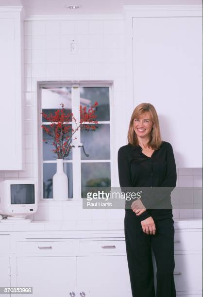 HILLS HOLLYWOOD CA DECEMBER 14 Amanda Pays English actress model in the first home she purchased renovated and decorated with her husband Corbin...