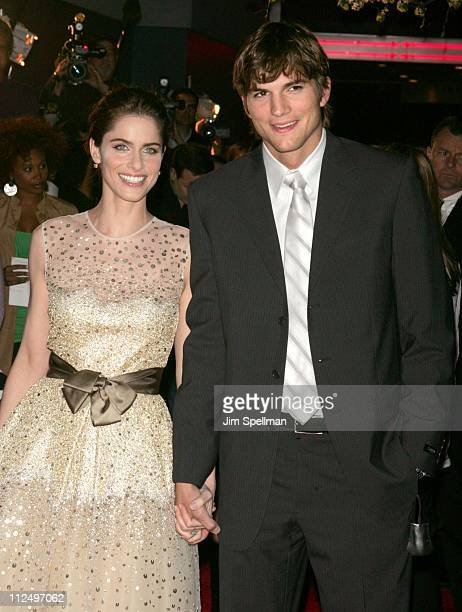 Amanda Peet and Ashton Kutcher during A Lot Like Love New York City Premiere Outside Arrivals at Clearview Chelsea West Cinema in New York City New...