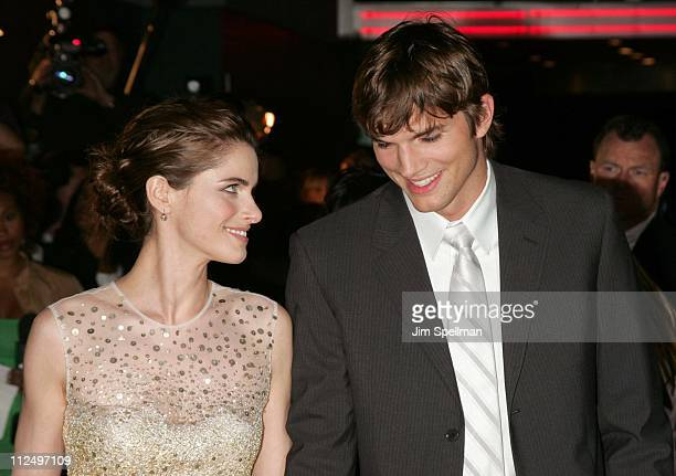 """Amanda Peet and Ashton Kutcher during """"A Lot Like Love"""" New York City Premiere - Outside Arrivals at Clearview Chelsea West Cinema in New York City,..."""