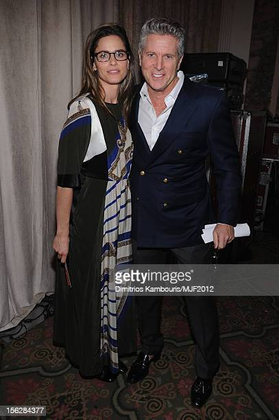Amanda Peet and Donny Deutsch attend the 2012 A Funny Thing Happened On The Way To Cure Parkinson's event at The Waldorf=Astoria on November 10 2012...