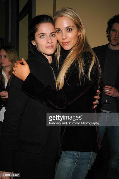Amanda Peet and Elizabeth Berkley during The New Group Presents Abigail's Party at Sacha in New York City New York United States