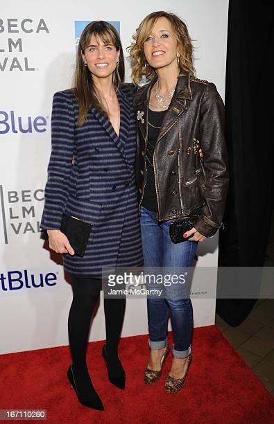 """Amanda Peet and Felicity Huffman attend the screening of """"Trust Me"""" during the 2013 Tribeca Film Festival at BMCC Tribeca PAC on April 20, 2013 in..."""