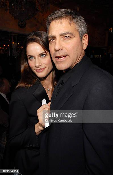 Amanda Peet and George Clooney during The 2005 National Board of Review of Motion Pictures Awards Ceremony - Cocktail Reception at Tavern On The...