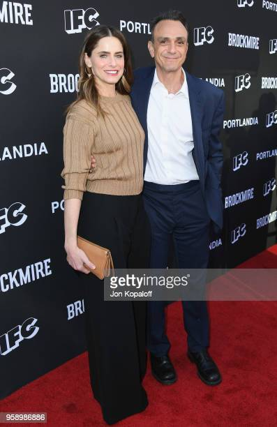 Amanda Peet and Hank Azaria attend IFC Hosts Brockmire And Portlandia EMMY FYC Red Carpet Event at Saban Media Center on May 15 2018 in North...