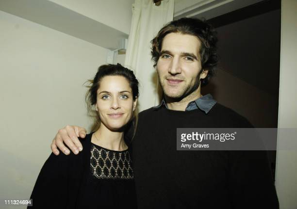 Amanda Peet and husband David Benioff during Kaviar and Kind Holiday Trunk Show at Kaviar and Kind in West Hollywood California United States
