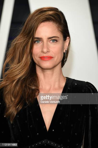 Amanda Peet attends 2019 Vanity Fair Oscar Party Hosted By Radhika Jones at Wallis Annenberg Center for the Performing Arts on February 24, 2019 in...