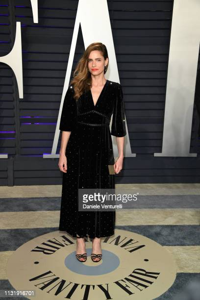 Amanda Peet attends 2019 Vanity Fair Oscar Party Hosted By Radhika Jones at Wallis Annenberg Center for the Performing Arts on February 24 2019 in...