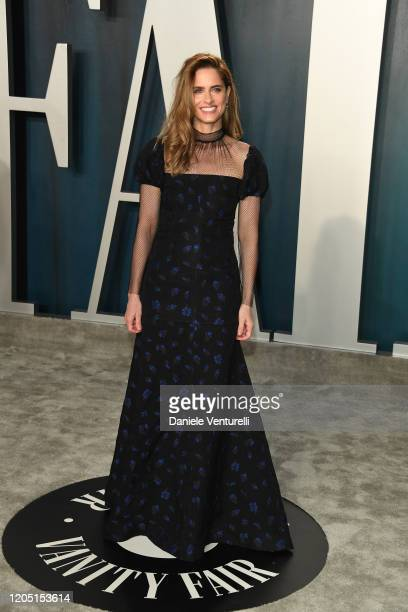 Amanda Peet attends 2020 Vanity Fair Oscar Party Hosted By Radhika Jones at Wallis Annenberg Center for the Performing Arts on February 09, 2020 in...