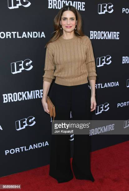 Amanda Peet attends IFC Hosts Brockmire And Portlandia EMMY FYC Red Carpet Event at Saban Media Center on May 15 2018 in North Hollywood California