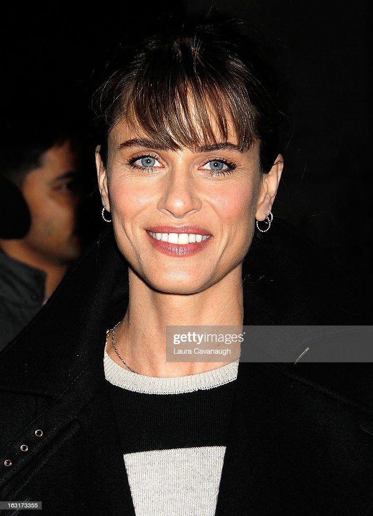 Amanda Peet attends 'Talley's Folly' Opening Night at Laura Pels Theatre at the Harold & Miriam Steinberg Center for on March 5, 2013 in New York City.
