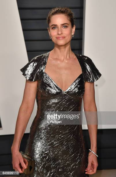 Amanda Peet attends the 2017 Vanity Fair Oscar Party Hosted by Graydon Carter at the Wallis Annenberg Center for the Performing Arts on February 26...
