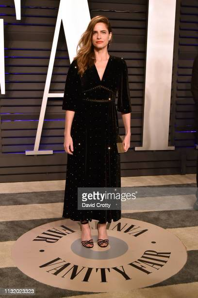 Amanda Peet attends the 2019 Vanity Fair Oscar Party at Wallis Annenberg Center for the Performing Arts on February 24 2019 in Beverly Hills...