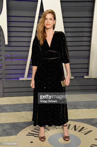 Amanda Peet attends the 2019 Vanity Fair Oscar Party hosted by Radhika Jones at Wallis Annenberg Center for the Performing Arts on February 24, 2019...