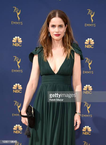 Amanda Peet attends the 70th Emmy Awards at Microsoft Theater on September 17, 2018 in Los Angeles, California.