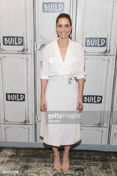 Amanda Peet attends the Build Series at Build Studio on April 5 2017 in New York City