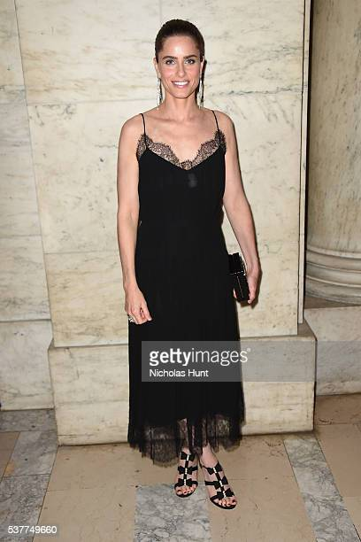 Amanda Peet attends the CHANEL Fine Jewelry Dinner supporting treasures from the New York Public Library Collection at the New York Public Library's...