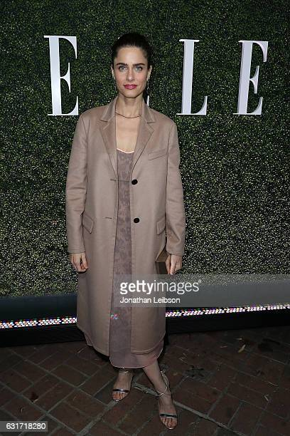 Amanda Peet attends the ELLE's Annual Women In Television Celebration 2017 Red Carpet at Chateau Marmont on January 14 2017 in Los Angeles California
