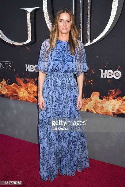 """Amanda Peet attends the """"Game Of Thrones"""" Season 8 NY Premiere on April 3, 2019 in New York City."""
