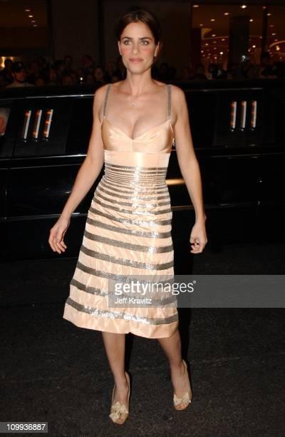 Amanda Peet during 2002 VH1 Vogue Fashion Awards Arrivals at Radio City Music Hall in New York City New York United States