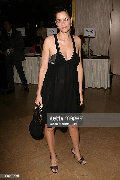 Amanda Peet during 9th Annual Lili Claire Foundation Benefit Hosted by Matthew Perry Arrivals at Beverly Hilton Hotel in Beverly Hills California...