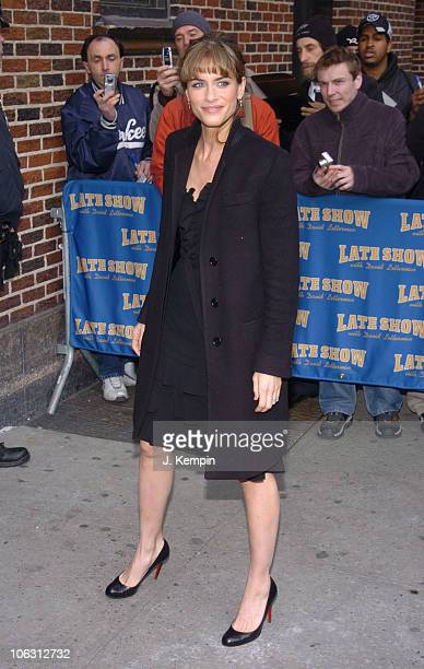 Amanda Peet during Amanda Peet Visits 'The Late Show with David Letterman' February 23 2006 at Ed Sullivan Theater in New York City New York United...