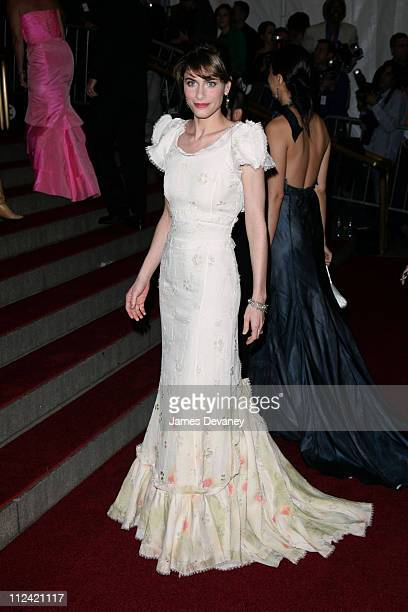 Amanda Peet during AngloMania Costume Institute Gala at The Metropolitan Museum of Art Arrivals Celebrating AngloMania Tradition and Transgression in...