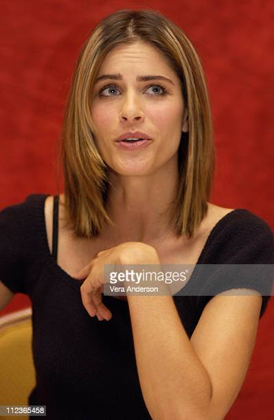 Amanda Peet during 'Igby Goes Down' Press Conference with Ryan Phillippe Kieran Culkin Amanda Peet and Burr Steers at Four Seasons Hotel in Beverly...