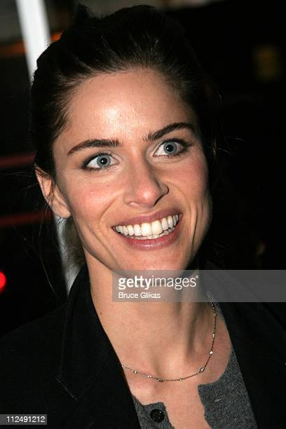 Amanda Peet during Neil Labute's 'This Is How It Goes' Opening Night After Party Inside at BBar in New York City New York United States