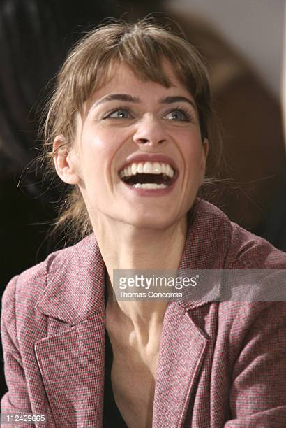 Amanda Peet during Olympus Fashion Week Fall 2006 Thakoon Front Row at Exit Art in New York City New York United States