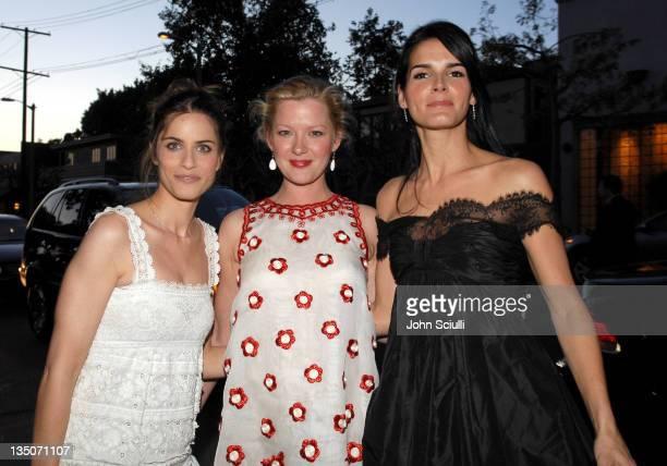 Amanda Peet Gretchen Mol and Angie Harmon all are wearing Oscar De La Renta