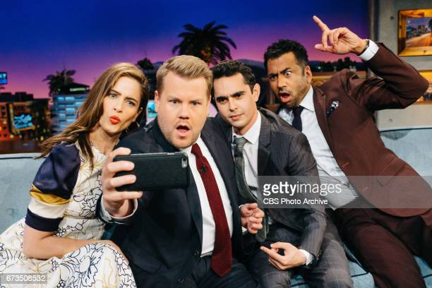 Amanda Peet Max Minghella and Kal Penn chat with James Corden during The Late Late Show with James Corden Tuesday April 25 2017 On The CBS Television...