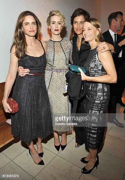 Amanda Peet Sarah Paulson Alexandra Hedison and Jodie Foster all wearing Bottega Veneta attend the Hammer Museum 14th Annual Gala In The Garden with...