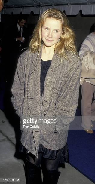 Amanda Peterson attends the premiere of Cry Freedom on November 5 1987 at the Cineplex Odeon Cinema in Century City California