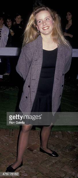 Amanda Peterson attends U2 Concert Party on November 21 1987 at Jane Fonda's home in Malibu California