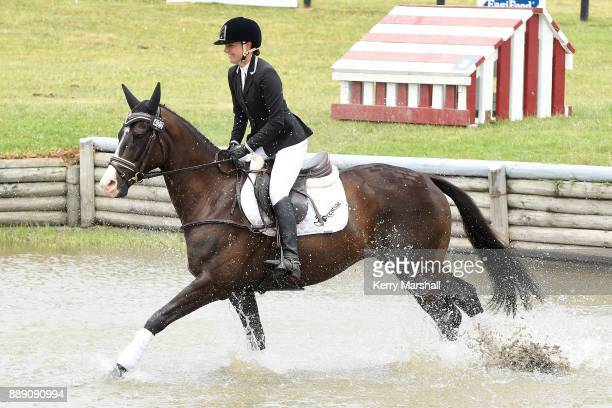 Amanda Pottinger rides Good Timing in the CCN105 and finishes third during the Puhinui International Horse Trials on December 10 2017 in Auckland New...