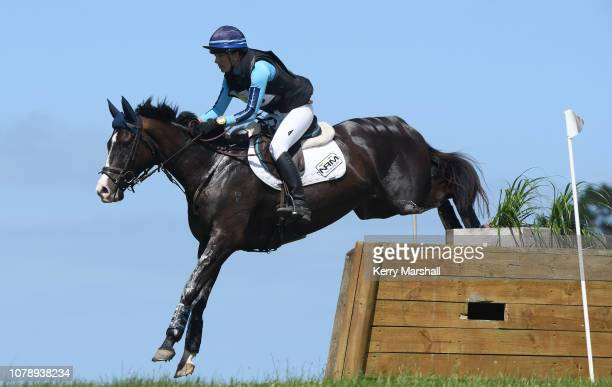 Amanda Pottinger rides Good Timing in the Veterinary Associates CCI* during the 2018 Puhinui International Horse Trials at The Puhinui Reserve on...