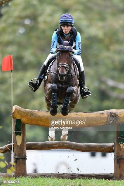 Amanda Pottinger rides Just Kidding in the CIC3* Eventing cross country phase during New Zealand Horse of the Year on March 17 2018 in Hastings New...
