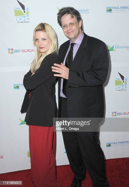 Amanda Raymond and Frank Reynolds arrive for the 6th Annual North Hollywood CineFest Opening Night held at The Federal Bar on March 20 2019 in North...