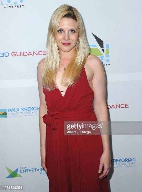 Amanda Raymond arrives for the 6th Annual North Hollywood CineFest Opening Night held at The Federal Bar on March 20 2019 in North Hollywood...