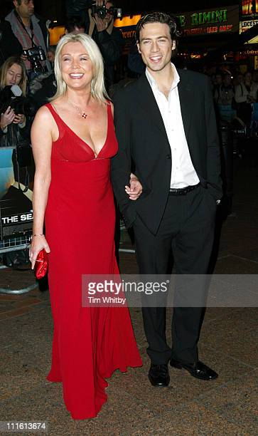 Amanda Redman and guest during 'Beyond The Sea' London Premiere Arrivals at Vue Cinema Leicester Square in London Great Britain
