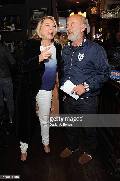 Amanda Redman and Keith Allen attend a drinks reception following the VIP performance of 'Sunny Afternoon' at the Tom Cribb pub on May 18 2015 in...