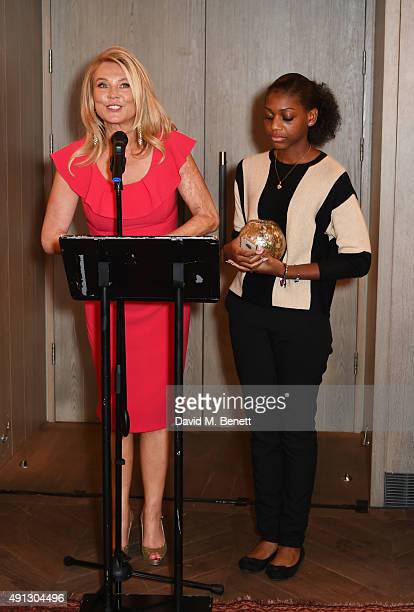 Amanda Redman and Madeline Bafaku attend the Voice Of A Woman Awards at the Belgraves Hotel on October 4 2015 in London England