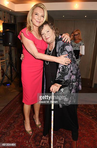 Amanda Redman and Sylvia Syms attend the Voice Of A Woman Awards at the Belgraves Hotel on October 4 2015 in London England