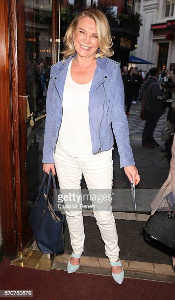 Amanda Redman arrives at the 8th anniversary gala performance of Jersey Boys at the Piccadilly Theatre on April 12 2016 in London England