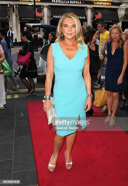 Amanda Redman arrives for the press night performance of 'Dear Lupin' at The Apollo Theatre on August 3 2015 in London England