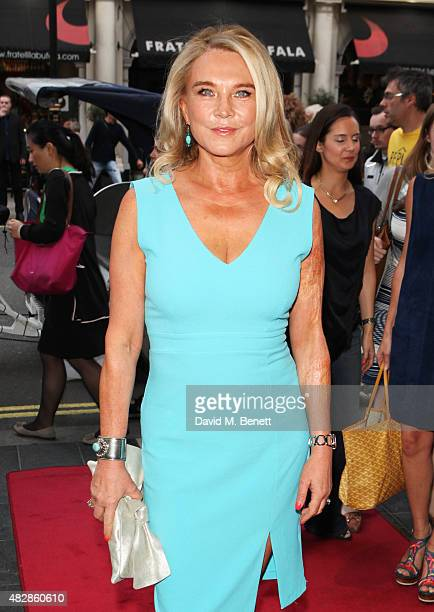 Amanda Redman arrives for the press night performance of Dear Lupin at The Apollo Theatre on August 3 2015 in London England